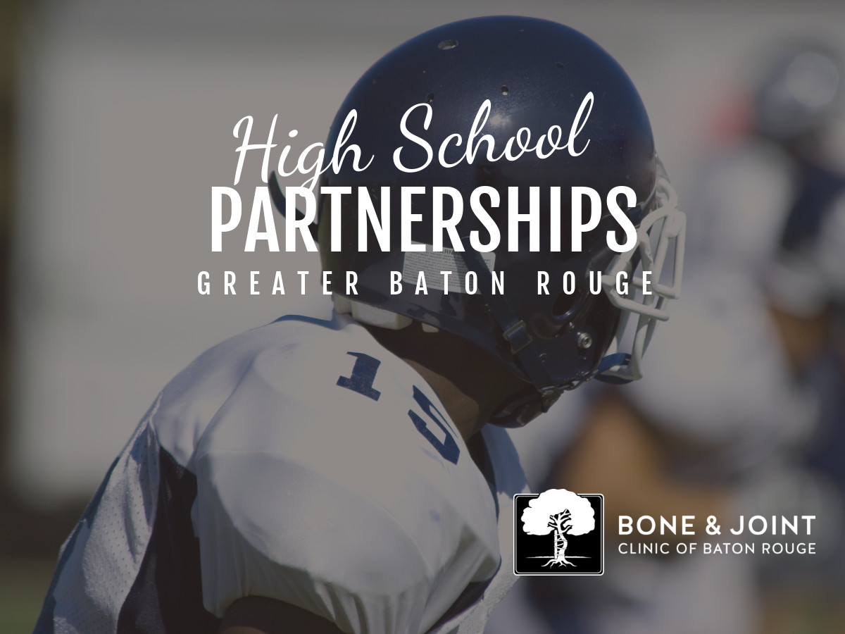 The Bone and Joint Sports Medicine Team Announces High School Partnerships